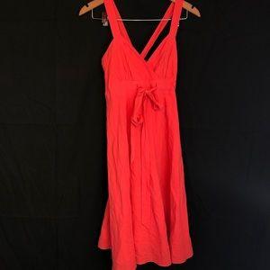 Theme sz s coral crossback cotton dress classic